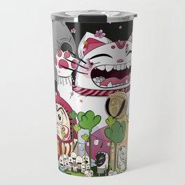 Maneki-neko in the magical world Travel Mug