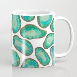 Green geode watercolor pattern - handpainted agate pattern Coffee Mug