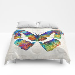 Colorful Butterfly Art by Sharon Cummings Comforters