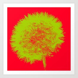 Red and Green Art Print
