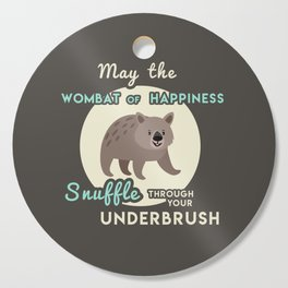 Wombat of Happiness Cutting Board