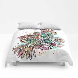 Inked Fantails Comforters
