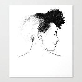 Quiff Canvas Print