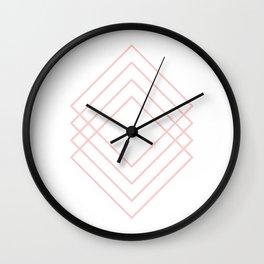 Peach Modern Squares Wall Clock