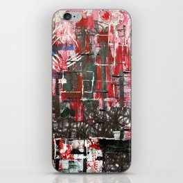 Red Cityscape iPhone Skin