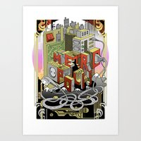 metropolis Art Prints featuring Metropolis  by KRNago