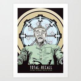 Total Recall - Arnold Schwarzenegger Flavour Art Print