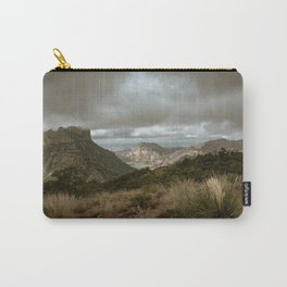 Big Bend Cloudy Mountaintop View - Lost Mine Trail - Landscape Photography Carry-All Pouch