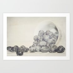 Spilled Blueberries Art Print