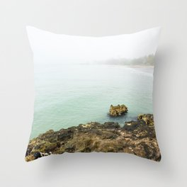 Bay of Pigs Playa Larga Cuba Caribbean Sea Ocean Beach Geology Limestone Tropical Island Fog Mist Ne Throw Pillow