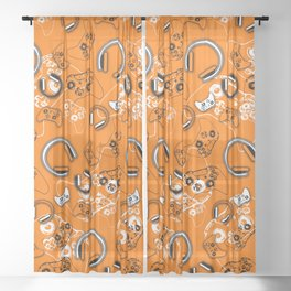 Gamers-Orange Sheer Curtain
