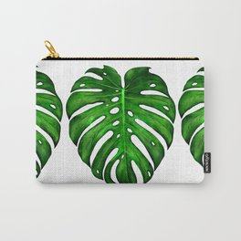 Monstera Leaf Paintings Carry-All Pouch
