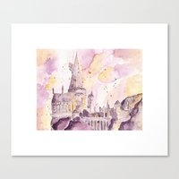 hogwarts Canvas Prints featuring hogwarts by impalei