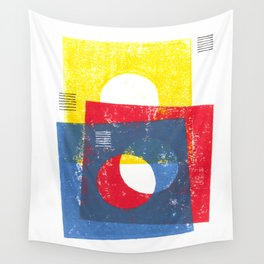 Basic in red, yellow and blue Wall Tapestry