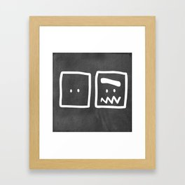 Chalkboard Wallies Framed Art Print