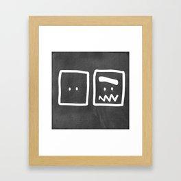 Chalkboard Wallies Framed Art Print