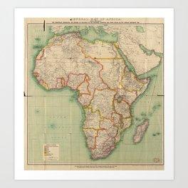 General Map of Africa (1909) Art Print