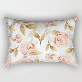 Blushing blooms Rectangular Pillow
