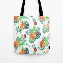 pineapple watercolor pattern Tote Bag