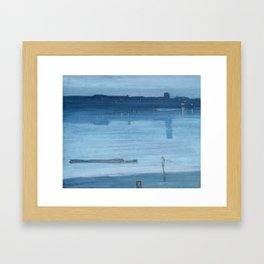 James Abbott McNeill Whistler - Nocturne- Blue and Silver Framed Art Print