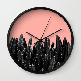 Black Cacti Dream #2 #minimal #decor #art #society6 Wall Clock
