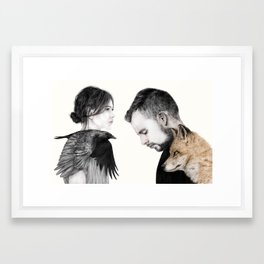 The Story About The Fox & The Crow Framed Art Print