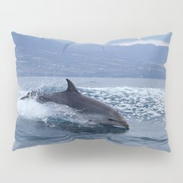 Wild and free bottlenose dolphin Pillow Sham