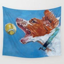 Brittany Spaniel Dog Portrait Wall Tapestry