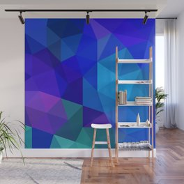 Sapphire Low Poly Wall Mural