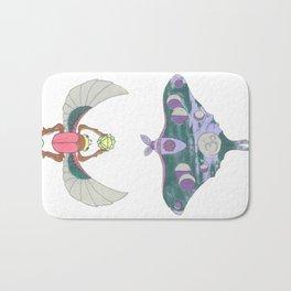 Green/Purple Moth + Green/Pink Scarab Bath Mat