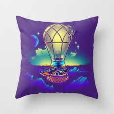Light Flight Throw Pillow