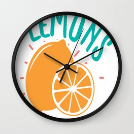 Lemons - Adventure Design Wall Clock
