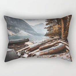 Moraine Lake at banff Rectangular Pillow