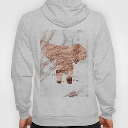Elephant - rose gold marble Hoody