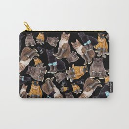 Tough Cats on Black Carry-All Pouch