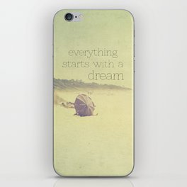 beach - everything starts with a dream iPhone Skin