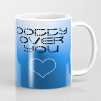 gift card Mugs featuring VALENTINES DAY CARD OR GIFT - DOTTY OVER YOU! by ©2012