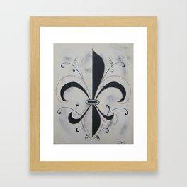 Fleur De Me Framed Art Print