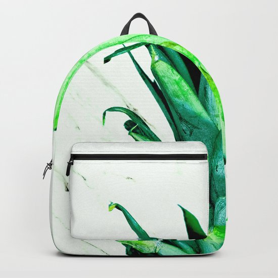 Pineapple Top Black and White Marble Backpack