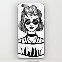 vampire gothic girl. Fashion woman. iPhone Skin