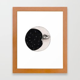 Moon Awake Framed Art Print