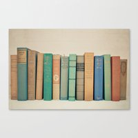 literary Canvas Prints featuring Literary Gems I by Laura Ruth
