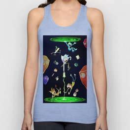 Rick & Morty fall in a portal Unisex Tank Top