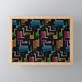 Snake mobile game Framed Mini Art Print