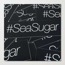 sea sugar line black Canvas Print