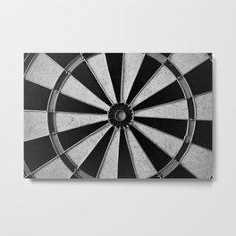 Black and White Darts, Bullseye  Metal Print