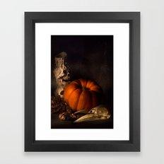 Halloween Still Life Framed Art Print