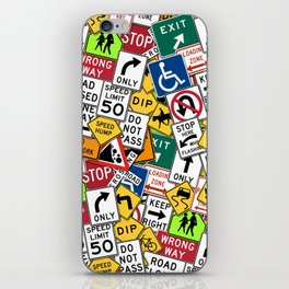 Street Signs Collage iPhone Skin