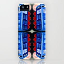 British Blue Police Public Call Box - Mirror 16 iPhone Case