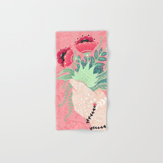 Pink Bouquet Hand & Bath Towel